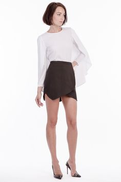'Madison' cape-back blouse.