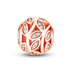 """Leaves of Prosperity Rose Gold Charm ❤Fits all brands bracelet.Wonderful gifts for family,lover,friends...Get 5%off on www.glamulet.com with coupon code """"PIN5"""" #Glamulet"""