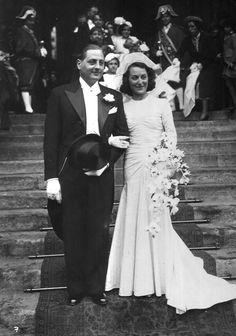 VINTAGE BRIDE AND GROOM 1939