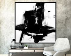 Original Large Abstract Art Painting On by ModernArtHomeDecor