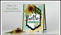 Stampin Up Botanical Blooms and Hello stamp Set from Sale-a-bration