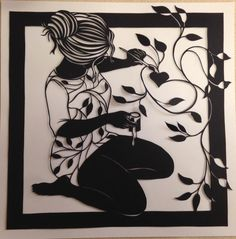 Hey, I found this really awesome Etsy listing at https://www.etsy.com/listing/254078864/original-handcrafted-paper-cut-girl