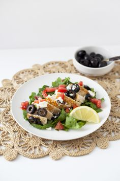 Healthy Dinner Recipe | Easy Lemon Olive Mediterranean Chicken recipe