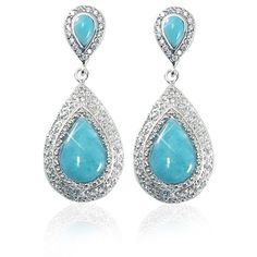 Sterling Silver Larimar Earrings available at http://jewelryandmore.us/index.php?productID=992&product_name=Larimar-Earrings-jm-ea2173-LR-CZWH-R-dsm&sec=category&clk=image&position=28