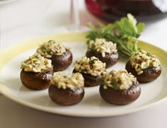Risotto-Stuffed Mushrooms