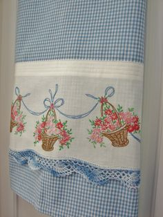 Flower Basket a Tea Towel With a Vintage Touch by TwoGirlsLaughing