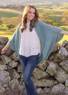 Harbor Haze Cocoon Sweater - Crochet Pattern