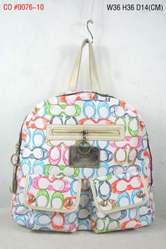 Coach Signature Multi Pocket Backpack