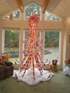 Hand Crafted Candy Cane Christmas Tree