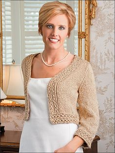 "Ravelry"" Classy Cropped Cardi by Ann E. Smith. $"