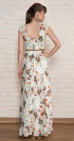 Vestido Longo Abacaxi | Novidades | Antix Store