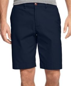"Tommy Hilfiger Men's Big and Tall 8 1/2"" Chino Shorts - Blue 44T"