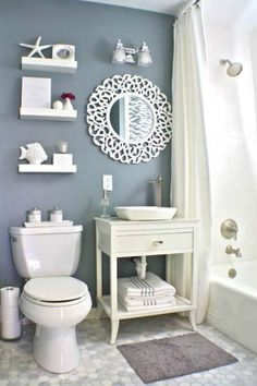 34 Best Sea Bathroom Decorations Ideas