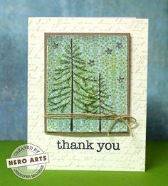 Hero Arts Cardmaking Idea: Resist Holiday Card