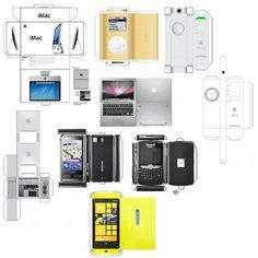 Mini Printies electronics...computers and laptops
