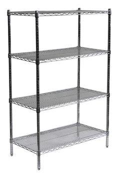 3 shelf zinc finish commercial shelving the home depot