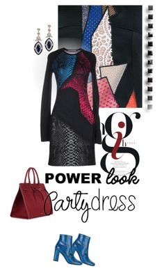 """""""Party On: Long Sleeve Dresses"""" by lacas ❤ liked on Polyvore featuring Christopher Kane, Mansur Gavriel, Ross-Simons, Yves Saint Laurent, longsleeve, longsleevedress, HolidayParty and holiday2016"""