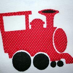 Train Applique Onesie