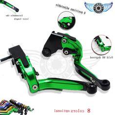 35.00$  Buy here - https://alitems.com/g/1e8d114494b01f4c715516525dc3e8/?i=5&ulp=https%3A%2F%2Fwww.aliexpress.com%2Fitem%2Ffree-shipping-green-CNC-brake-clutch-levers-adjusitable-motorcycle-brake-clutch-levers-FOR-YAMAHA-SUPERTENERE-2012%2F32443242362.html - brake clutch levers adjusitable motorcycle brake clutch levers FOR Kawasaki ZX6R ZX7R ZX10R ZX9R NINJA300 NINJA200 Z800 Z1000 35.00$