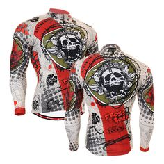 2016 Brand Windproof cycling jacket men chaqueta de ciclismo giacca antivento mtb inverno mountain bike jacket with skulls #Affiliate