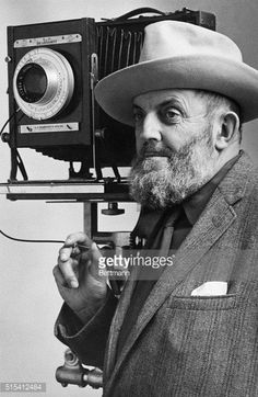 (Original Caption) Portrait of Ansel Adams, who first started his professional career as a pianist and later turned to the camera for self-expression. Since publication of his first book, 'The High Sierras,' a pictoral study, in 1927, he has been known for his striking, detailed photographic studies of nature, and particularly of the Far West. He divides his time between his studio in San Francisco and Yosemite National Park. Photo filed 3/23/1961.