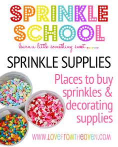 Where To Buy Sprinkles & Decorating Supplies!