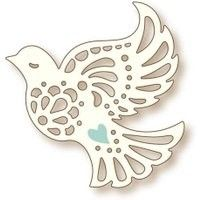 Wild Rose Studio Specialty Craft Die Dove 069 out for sale online Paper Snowflakes, Paper Stars, Arts And Crafts, Paper Crafts, Kids Birthday Cards, Congratulations Card, Patch Quilt, Paper Cutting, Die Cutting