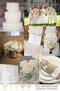 Maybe a bit too rustic, but love the concept of al all white wedding!