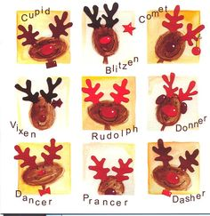 Reindeer thumb print Christmas card design !!
