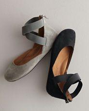 Gentle Souls Bay Unique Ankle-Wrap Ballet Flats