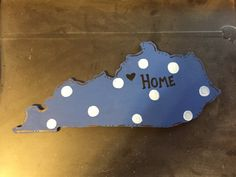 Hand Painted KY State Wood Shape Cutout by 5oh4Designs on Etsy