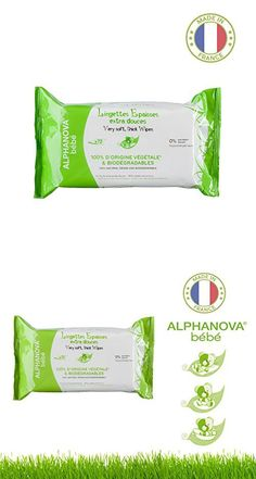 Alphanova Bebe-Natural & Organic, Thick & Strong Baby Wipes, 72 Count (1 Pack)