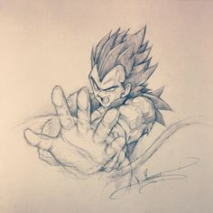 """Pain killers… You mean bitch mints?"" Hahahahaha thee best caption I've come across for #Vegeta. Any hard-core Dragon Ball fan want to buy this original sketch off of me? I am really bad at pricing my art, so offer whatever you think is fair below, and I guess I'll contact whomever wants it the most =). Also, I rarely let go of originals… #SSJ4 #Equals #Serious #Business"