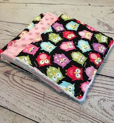 A personal favorite from my Etsy shop https://www.etsy.com/listing/530217659/baby-burp-clothspink-owl-burp-clothsbaby