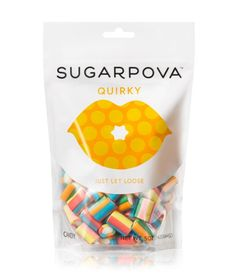 Tennis superstar Maria Sharapova just launched her own candy line called Sugarpova at Henri Bendel. We're dying to try the Quirky, a chewy strawberry/vanilla candy.
