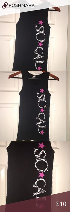 "SoCal women's tank top Cool black tank top by SoCal. Tank is stretchy and comfortable with ""⭐️So⭐️Cal⭐️"" written down the side in white and black with magenta pink stars. Tattoo inspired design that never goes out of style. SoCal Tops Tank Tops"