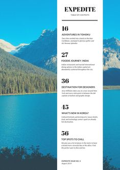 Designing the perfect table of contents: 50 examples to show you how – Learn Table Of Contents Magazine, Magazine Table, Table Of Contents Design, Table Of Contents Template, Travel Book Layout, Mountain Background, Web Design Trends, Design Web, Layout Design
