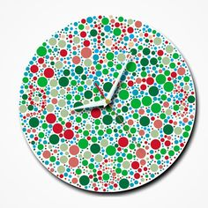cedc5be23a8 Color Blind clock There square measure numerous clocks that square measure  created out