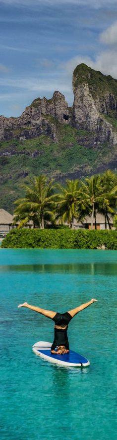 Yoga in Bora Bora - photo from #treyratcliff Trey Ratcliff at http://www.StuckInCustoms.com