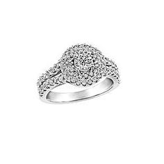 Gold And Diamond Ring With Halo Canadian Fire Ice