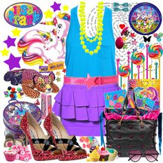 Lisa Frank Inspired Look by diana-flo on Polyvore