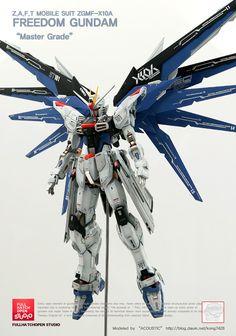 GUNDAM GUY: MG 1/100 Freedom Gundam - Painted Build