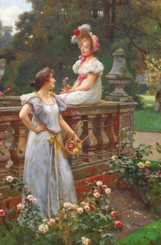 "Wilhelm Menzler (German, 1846-1926), ""In the Garden"""