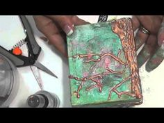▶ Mixed Media Friday Tutorial - Dreams come True Canvas - YouTube This would be so cool if you do this with an (hollow out) altered book