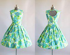 Vestido vintage años 50  novedad de los años 1950 pera