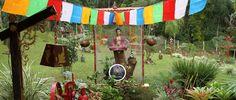Jardim do Espaço Tibet, primeiro restaurante de comida tibetana do Brasil, em Três Coroas (foto: Eduardo Vessoni)
