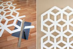 DIY geometric background (or wall hanging or desk top...) from project wedding