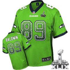 Elite Nike Men's Doug Baldwin Green Jersey: NFL #89 Seattle Seahawks Drift…
