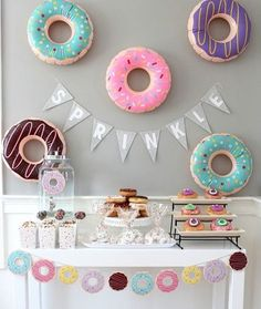 """Satisfy your craving for some fun with these sweet Inflatable Donuts. With bright designs including frosting and yummy sprinkles, these delightful donuts are a great addition to your donut birthday party or summertime pool party. Blow them up and use these inflatable toys as party decorations, party favors or place them in your pool and have kids toss balls into the holes for an easy party game. Vinyl. Inflated, 15"""" with a 5"""" hole. Not a floatation device. � OTC Dipped in bright colors and…"""