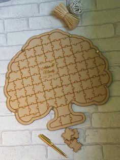 Jigsaw Puzzle boda libro de visitas del árbol el árbol en